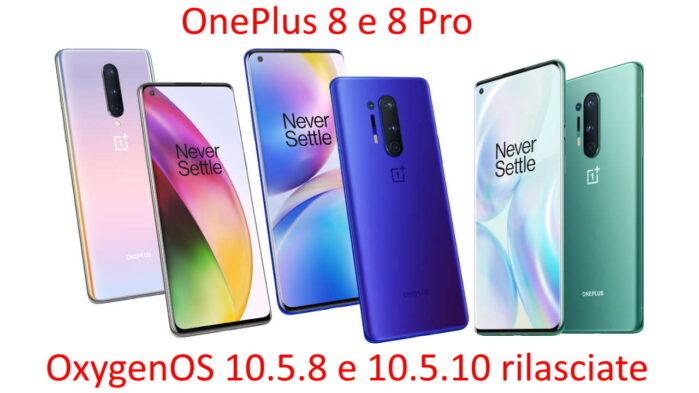 OnePlus 8 e 8 pro aggiornamento giugno 2020 OxygenOS