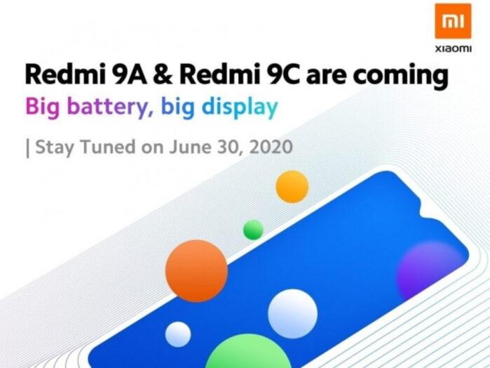 Redmi 9A e Redmi 9C 30 giugno 2020