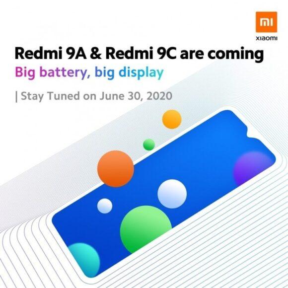 Redmi 9A e Redmi 9C ufficiali 30 giugno 2020