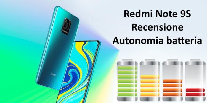 Redmi Note 9S autonomia batteria la recensione