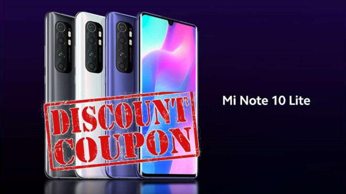 Xiaomi Mi Note 10 Lite Coupon giugno 2020 banggood