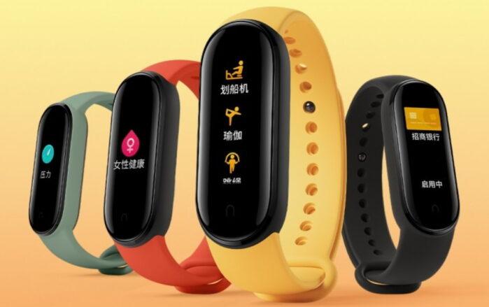 Xiaomi Mi band 5 colori