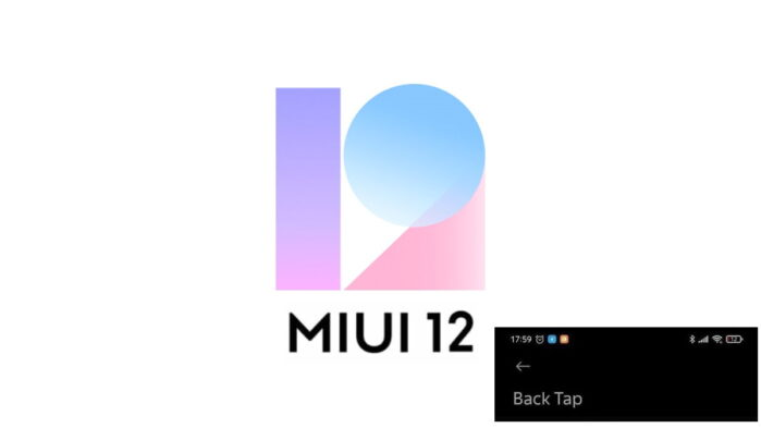 MIUI 12 BACK TAP