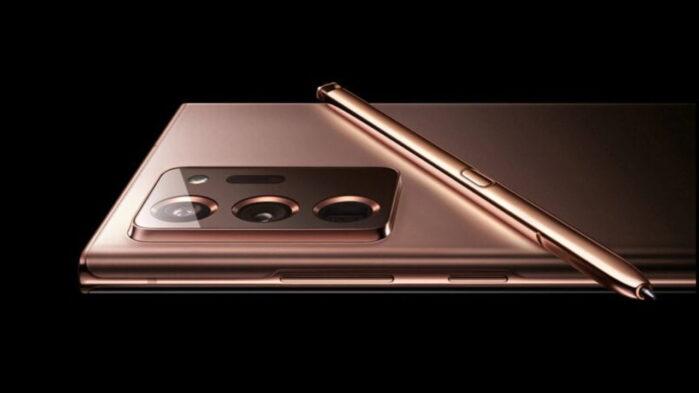 Samsung Galaxy 20 Ultra render 3d ufficiale Bronze