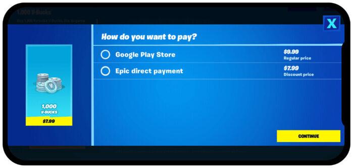 Epic Games Fortnite Mobile vs Google e Apple pagamenti