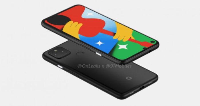 Google Pixel 4A 5G e Pixel 5 render 3d