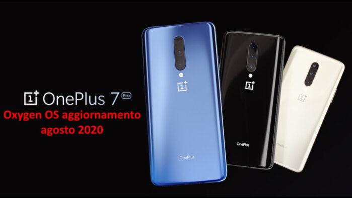 OnePLus 7 e 7 Pro aggiornamento Oxygen OS agosto 2020