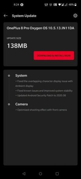 OnePlus 8 e 8 Pro nuova oxygenOS metà agosto 2020