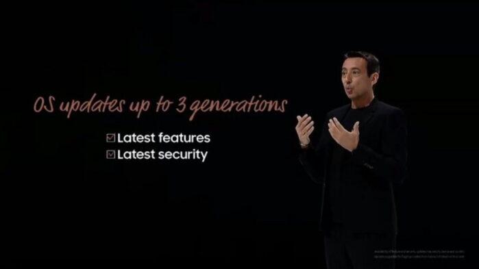 Samsung Galaxy 3 anni di aggiornamenti software Android