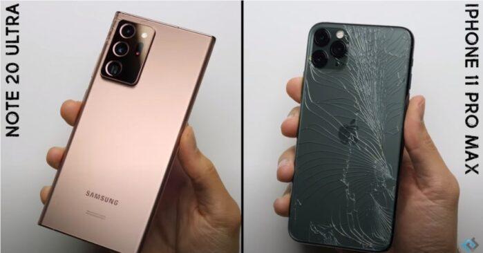 Scocca posteriore caduta Galaxy Note 20 Ultra