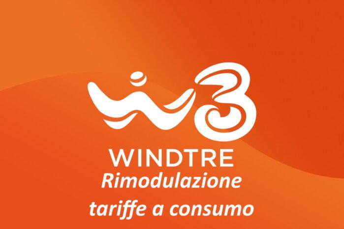 WindTre rimodulazione tariffe a consumo settembre 2020