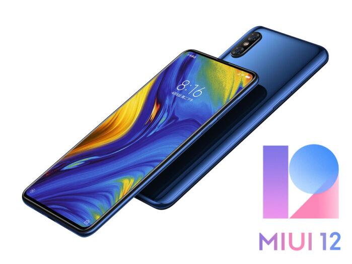 Xiaomi MI Mix 3 aggiornamento MIUI 12 Android 10
