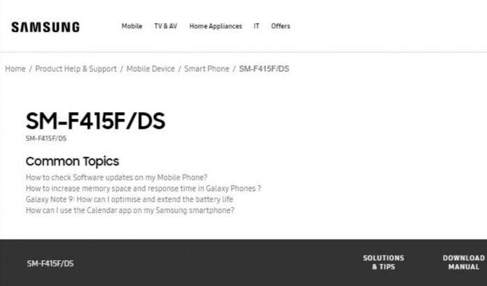 Galaxy F41 codice aziendale