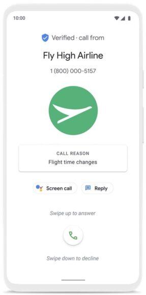 Google Telefono chiamate verificate 1