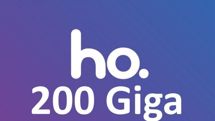 Ho. Mobile tariffa 200 giga prezzo e dettagli