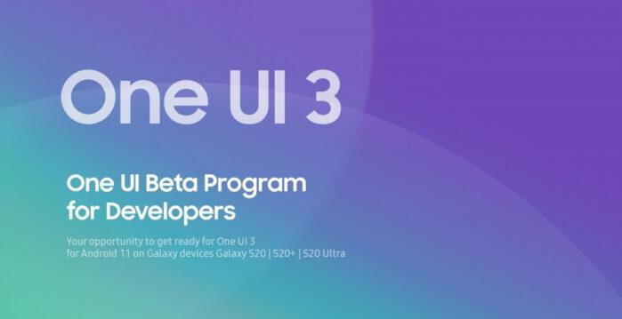 One UI 3.0 su Android 11 beta sviluppatori Galaxy S20