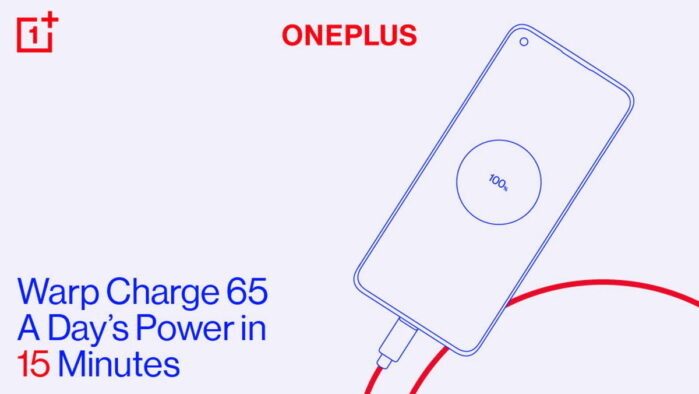 OnePLus 8T ricarica rapida Warp Charge 65 tempi