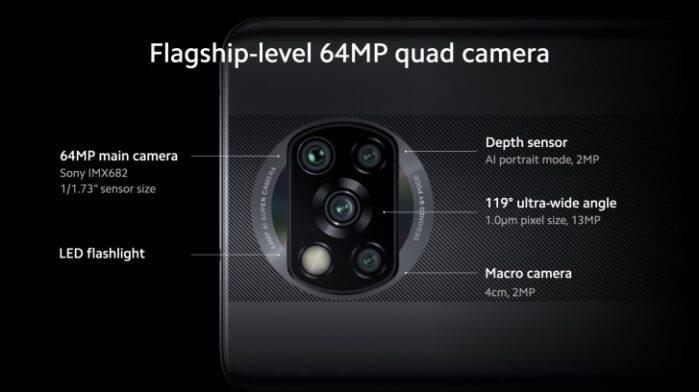 Poco X3 NFC fotocamera posteriore