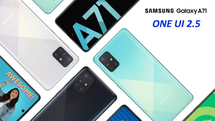 Galaxy A71 ONE UI 2.5 aggiornamento in Europa