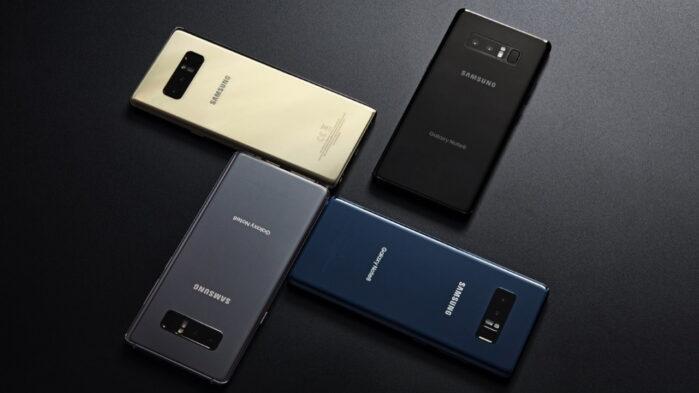 Galaxy Note 8 aggiornamenti trimestrali