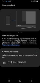 Galaxy Note 9 ONE UI 2.5 modalità dex