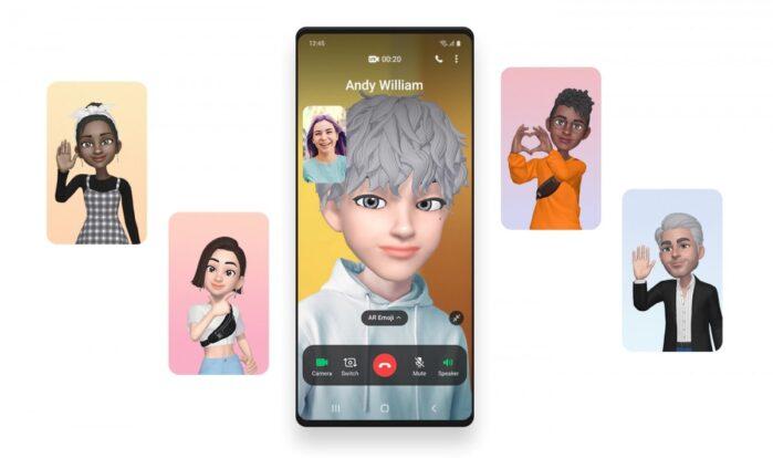 One UI 3.0 videochiamate a schermo intero