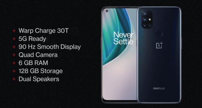 OnePlus Nord N10 5G caratteristiche generali