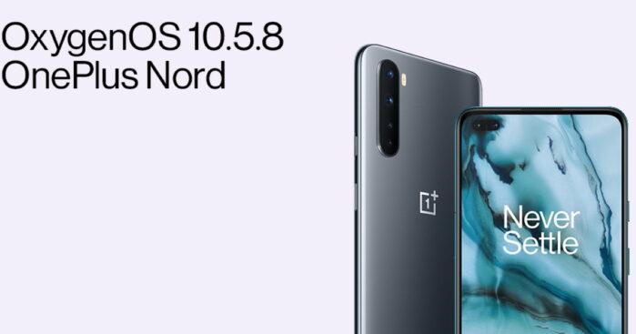 OnePlus Nord aggiornamento alla OxygenOS 10.5.8 ottobre 2020