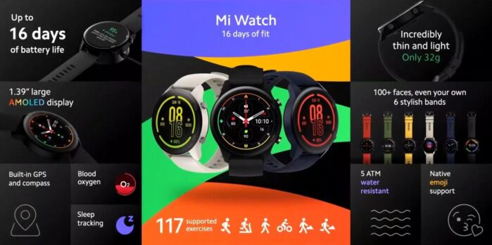 Xiaomi MI Watch specifiche