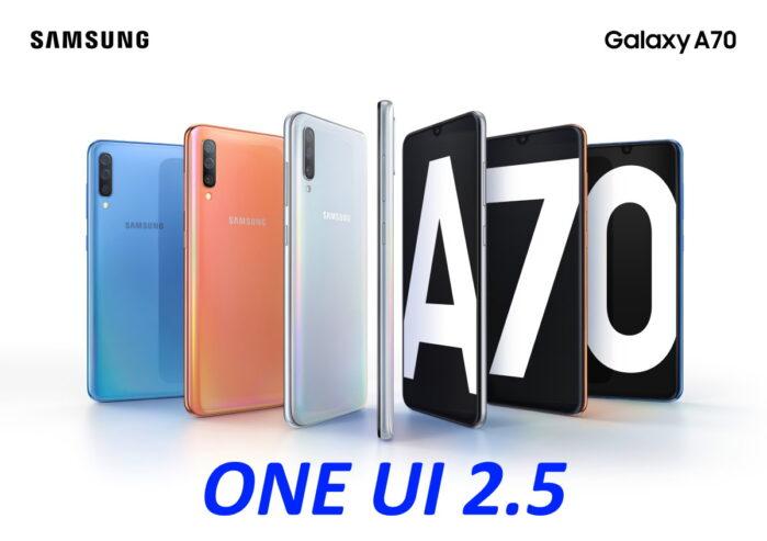 Galaxy A70 aggiornamento One UI 2.5