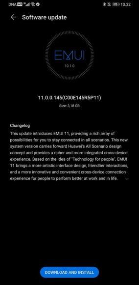 Huawei Mate 30 Pro aggiornamento EMUI 11 su Android 10