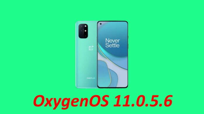 OnePLus 8T oxygenOS 11.0.5.6 disponibile