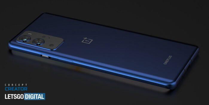 OnePLus 9 Pro design posteriore blu