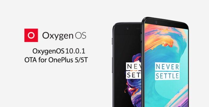OnePlus 5 e 5T aggiornamento OxygenOS 10.0.1 basato su Android 10