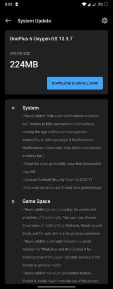 OnePlus 6 e 6T OxygenOS 10.3.7 aggiornamento