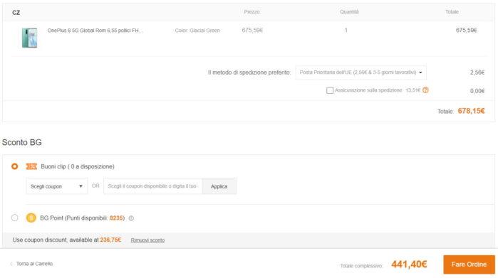 OnePlus 8 CZ coupon BlackFriday Banggood