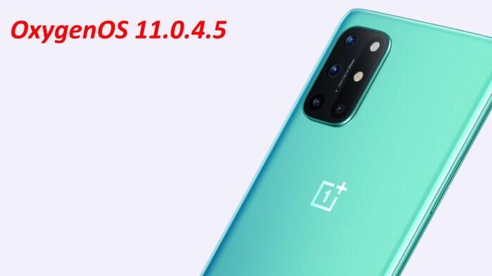 OnePlus 8T aggiornamento OxygenOS 11.0.4.5
