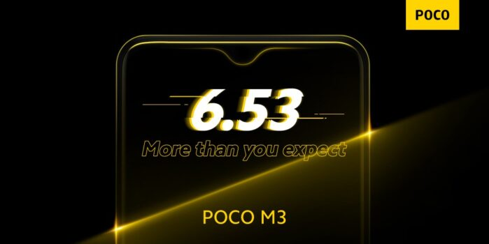 POCO M3 display