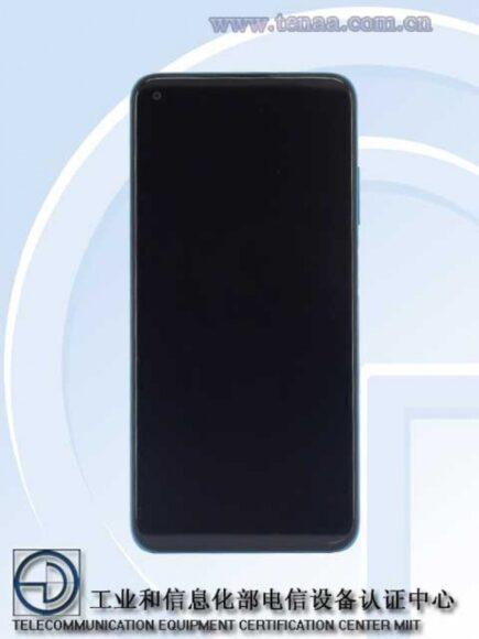 Redmi Note 9 5G frontale