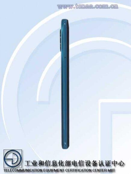 Redmi Note 9 5G laterale