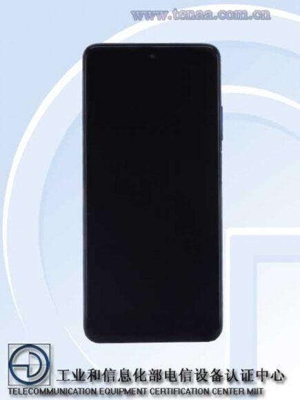 Redmi Note 9 Pro 5G frontale