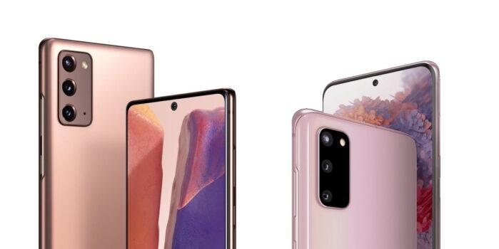 Samsung Galaxy S10, S20, Galaxy Note 10 e Note 20 aggiornamento novembre 2020