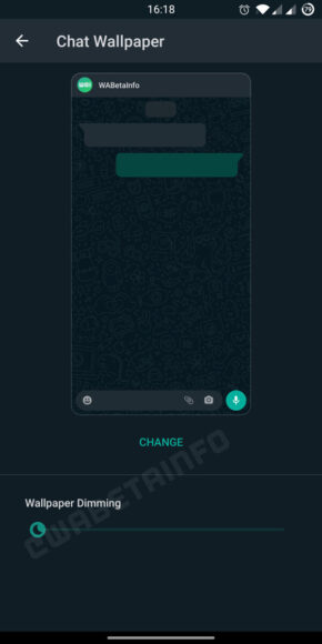 WhatsApp nuove funzionalità Sfondo opacità