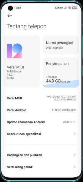 Xiaomi MI 10 Android 11 con MIUI 12 Stabile Globale