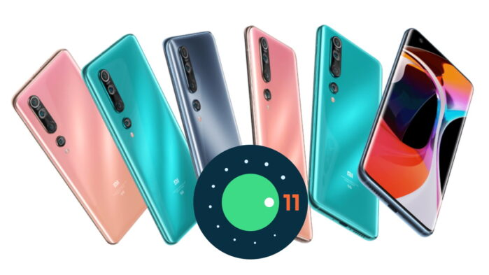xiaomi Mi 10 e Mi 10 Pro aggiornamento Android 11 miu 12 in Cina