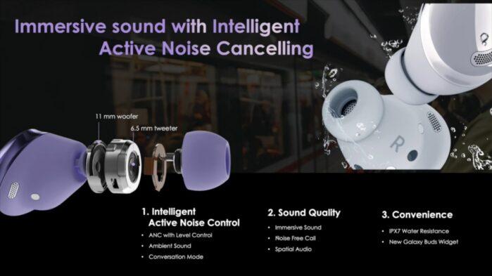 Galaxy Buds Pro audio, cancellazione AI