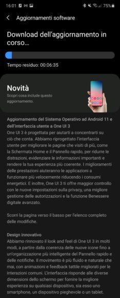 Galaxy Note 10 e 10 Plus aggiornamento Android 11 in Italia