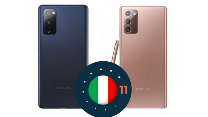 Galaxy Note 20 Ultra e Galaxy S20 FE aggiornamento Android 11 in Italia