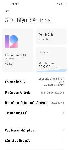 Mi 10 Pro Android 11 MIUI 12