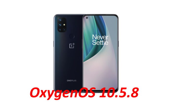 OnePlus Nord N10 5G aggiornamento OxygenOS 10.5.8